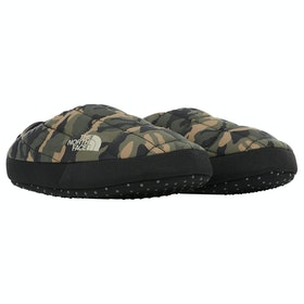 North Face Thermoball Tent Mule V Ladies Slippers - Bright Olive Green Woodland Camo Print TNF Black