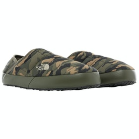 North Face Thermoball Traction Mules V Ladies Slippers - New Taupe Green Burnt Olive Green Woods Camo Print