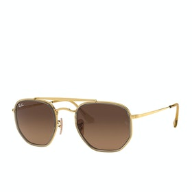 Ray-Ban The Marshal II Sunglasses - Gold ~ Brown Gradient Grey