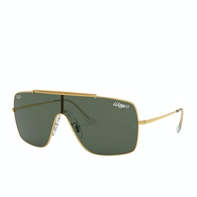 Ray-Ban Wings II Sunglasses - Gold ~ Dark Green