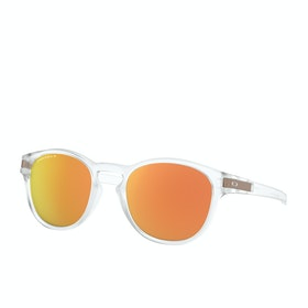 Oakley Latch Sunglasses - Matte Clear ~ Prizm Rose Gold Polarized
