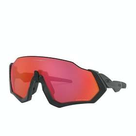 Oakley Flight Jacket Sunglasses - Matte Black ~ Prizm Trail Torch