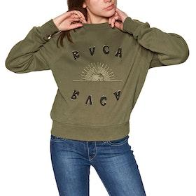 RVCA Sunshien Crew Womens Sweater - Army Drab