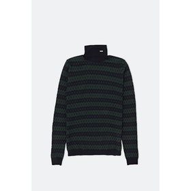 WOOD WOOD Jacques Turtleneck Knits - Navy Jacquard