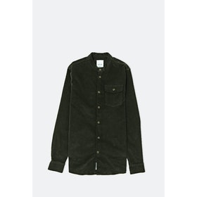 WOOD WOOD Tyson L S Shirt - Dark Green