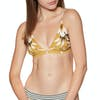 Rip Curl Island Time Fixed Tri Bikini Top - Mustard