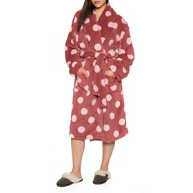 Animal Spottey Dressing Gown - Mineral Red