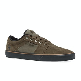 Etnies Barge LS Shoes - Olive Black Gum