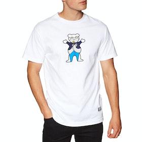 T-Shirt à Manche Courte Grizzly Beaufort Bear Hug - White