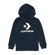 Converse Stacked Wordmark Fleece Pull Over Boys Pullover Hoody
