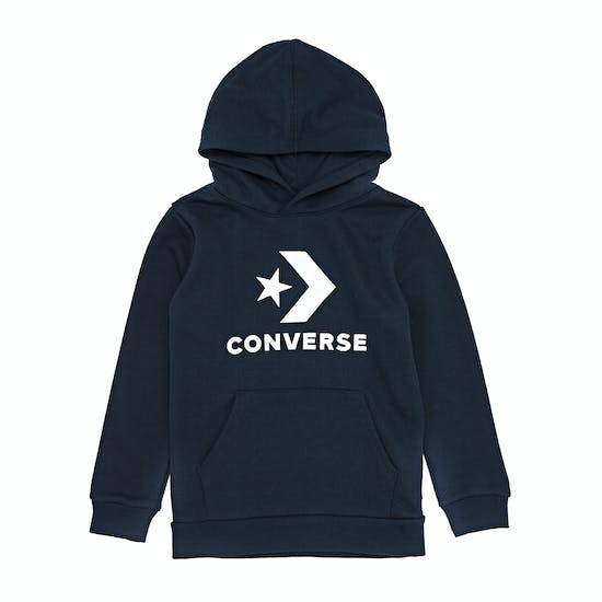 Converse Stacked Wordmark Fleece Pull Over Boys Pullover Hoody