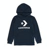 Converse Stacked Wordmark Fleece Pull Over Boys Pullover Hoody - Obsidian