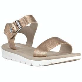 Timberland Lottie Lou 1 Band Damen Sandalen - Rose Gold Full Grain