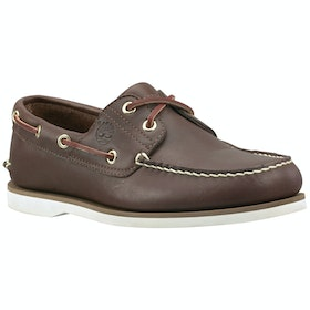 Timberland Classic 2 Eye Boat , Dress Shoes - Mid Brown Full Grain