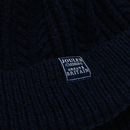 Joules Cable Knit Bobble Womens Beanie