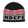 Independent Woven Crosses Beanie - Black Charcoal