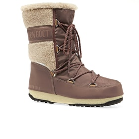 Moon Boot Monaco Wool Mid Boots - Mud