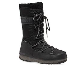 Moon Boot Monaco Wool Wp Boots - Black