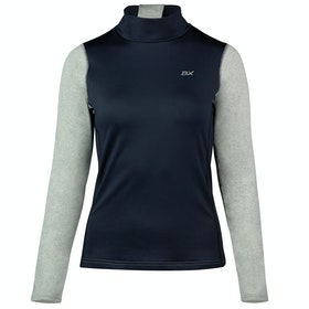 B Vertigo BVX Roxana Training Turtleneck Damen Top - Dark Navy Melange Grey
