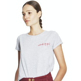 Maison Labiche Working Girl Women's Short Sleeve T-Shirt - Heather Light Grey
