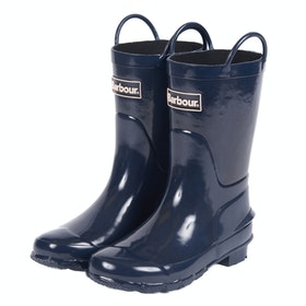 Barbour Durham Childrens Wellington Boots - Navy