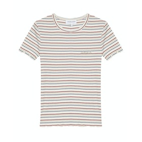 Maison Labiche Phoebe Amour Women's Short Sleeve T-Shirt - Natural Blue Red Gold