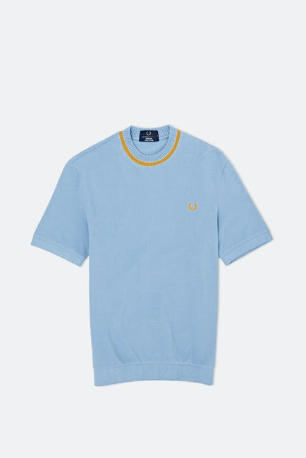 Fred Perry Re Issues Crew Neck Pique S S T-Shirt
