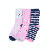 Barbour 3 Pack Terrier Paw Women's Socks