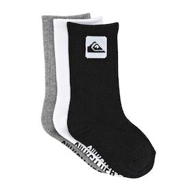 Quiksilver 3 Pack Crew Boys Socks - Assorted