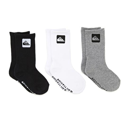 Quiksilver 3 Pack Crew Boys Socks