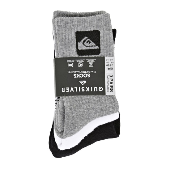 Fashion Socks Quiksilver 3 Pack Crew