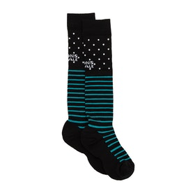 Mons Royale Lift Access Womens Socks - Black/White/Tropicana