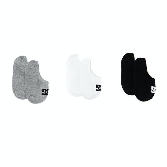 DC 3 Pack Liner Boys Sports Socks