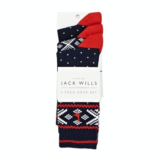 Jack Wills Bitterly Fairisle 3 Pack Socks