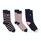 Jack Wills Wansbeck Geo 3 Pack Socks