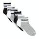 Converse Basic Wordmark Quarter 6 Pairs Kids Fashion Socks
