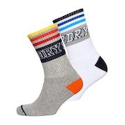 Superdry Courtsdie Cali Double Pack Socks