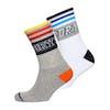 Superdry Courtsdie Cali Double Pack Socks - Grey Marl Optic