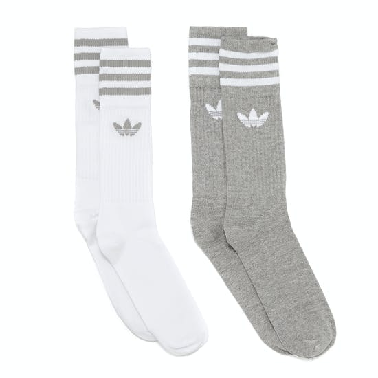 Adidas Originals Solid Crew 2pack Socks