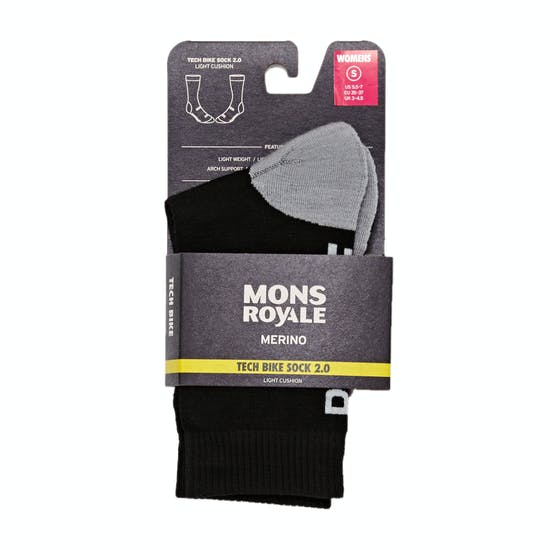 Mons Royale Tech 2 Womens Bike Socks