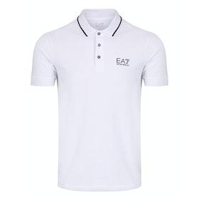 Рубашка поло EA7 Short Sleeve - White