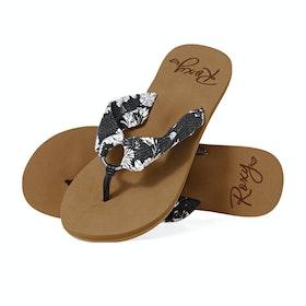 Roxy Paia Iii Womens Sandals - Black White
