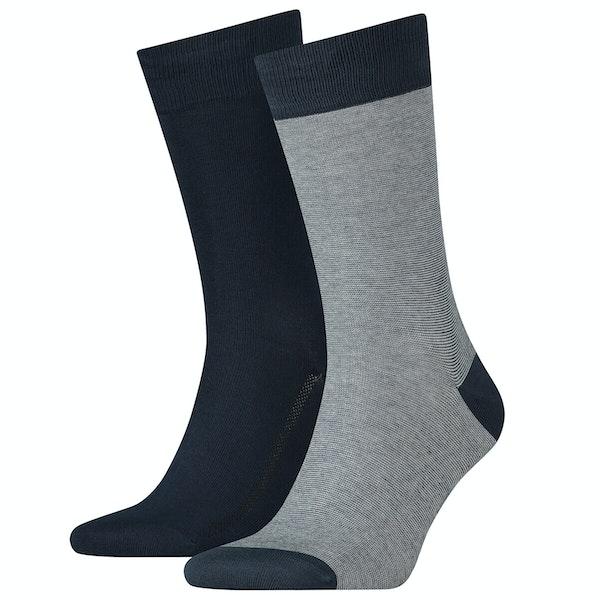 Levi's 2 Pack 168 Regular Cut Micro Stripe Socks