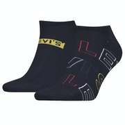 Levi's 2 Pack Low Cut Letter Outline Socks