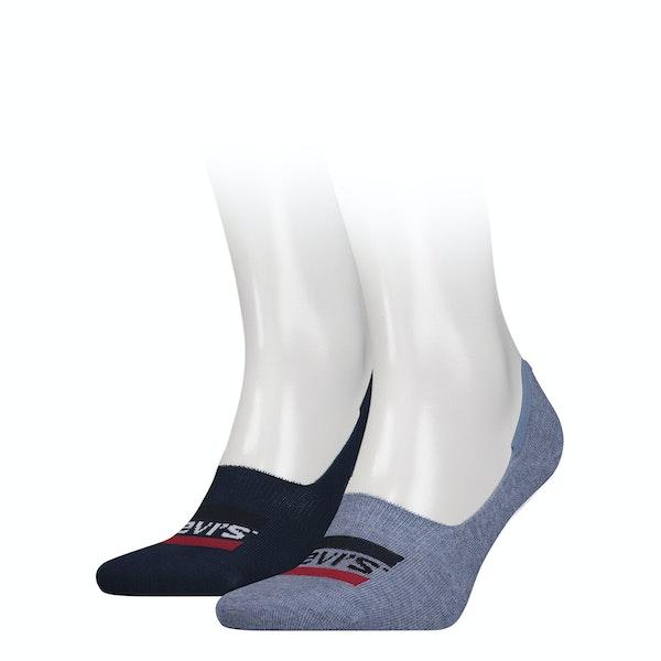 Levi's 2 Pack Low Rise Sportswear Logo Socks