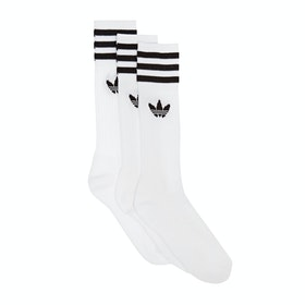 Adidas Originals Solid Crew Socks - White Black