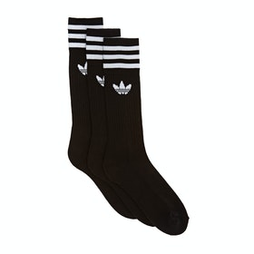 Adidas Originals Solid Crew Socks - Black White
