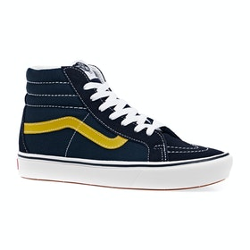 Vans Comfycush Sk8 Hi Reissue Sport Shoes - Dress Blues Gibraltar Sea Sulphur