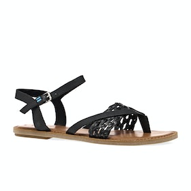 Toms Lexie Leather Womens Sandals - Black