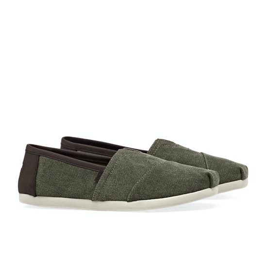 Toms Washed Canvas Slip On Shoes